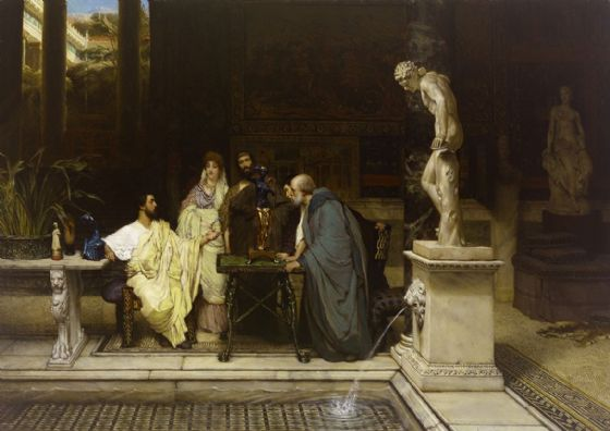 Alma-Tadema, Sir Lawrence: A Roman Art Lover. Fine Art Print/Poster. Sizes: A4/A3/A2/A1 (003811)